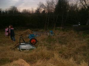 A wheelbarrow!
